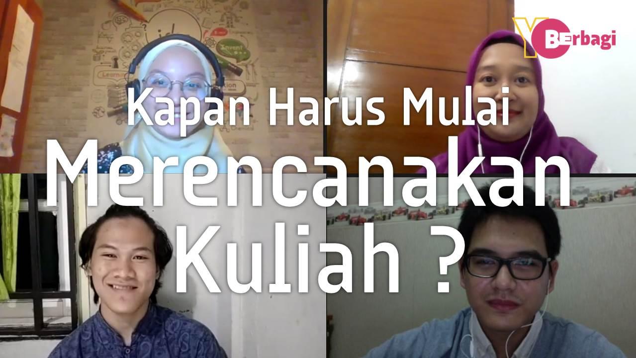 Kapan Harus Mulai Merencanakan Kuliah ? It's never too early nor too late !