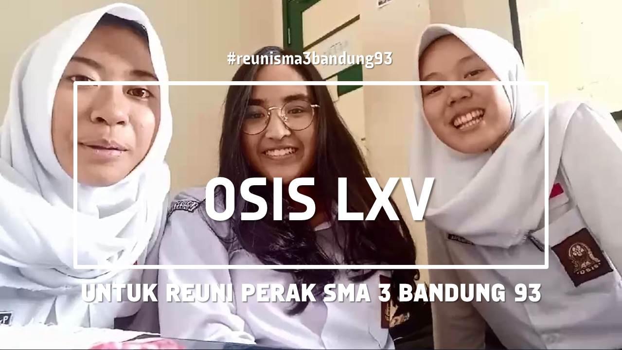 Reuni Perak SMA 3 Bandung 1993 Sambutan