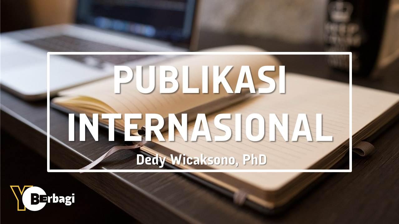 Strategi Publikasi di Jurnal Internasional